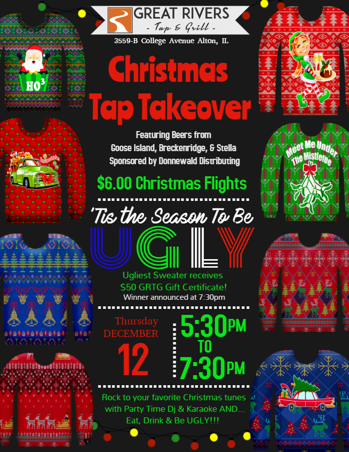 Tap Takeover Ugly Sweater Contest