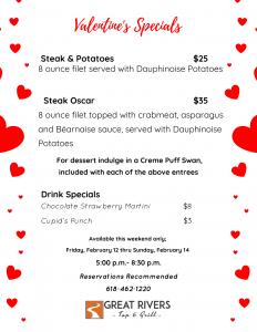 Valentine's Day 2021 Specials, restaurants in alton illinois